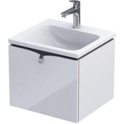 Oristo Siena szafka 50 cm podumywalkowa wisząca biały połysk OR45-SD1S-50-1