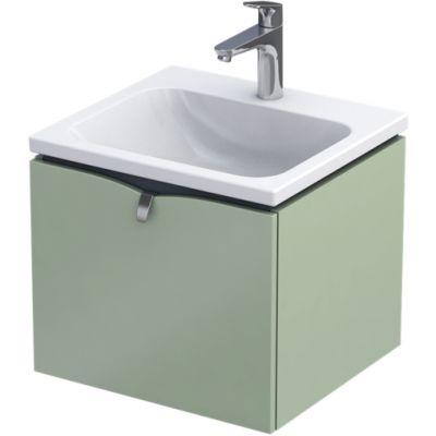 Oristo Siena szafka 50 cm podumywalkowa wisząca polny zielony mat OR45-SD1S-50-46
