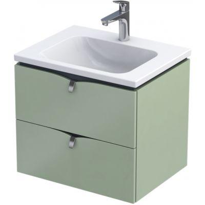 Oristo Siena szafka 60 cm podumywalkowa wisząca polny zielony mat OR45-SD2S-60-46