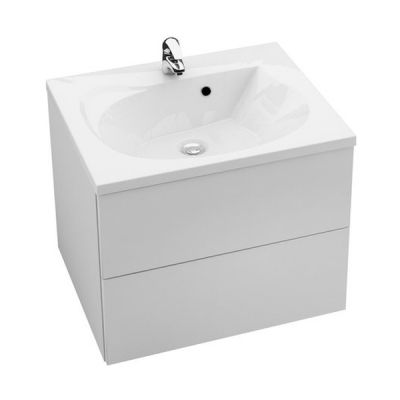 Ravak Rosa II szafka 60 cm podumywalkowa wisząca biały połysk/biały połysk X000000924