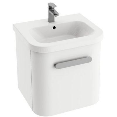 Zestaw umywalka z szafką 55 cm biały Ravak Chrome (XJG01155000, X000000635)