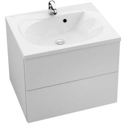 Ravak Rosa II szafka 76 cm podumywalkowa wisząca biały połysk/biały połysk X000001293