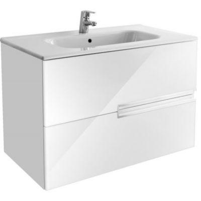 Roca Victoria-N Nord zestaw łazienkowy Unik 80 cm umywalka z szafką biały połysk A851508806