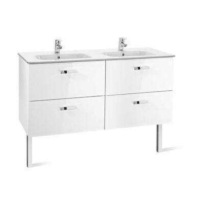 Roca Victoria Basic Unik zestaw łazienkowy 120 cm umywalka z szafką biały połysk A855850806