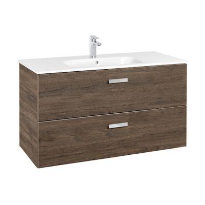 Roca Victoria Basic Unik zestaw łazienkowy 100 cm umywalka z szafką cedr A855851423