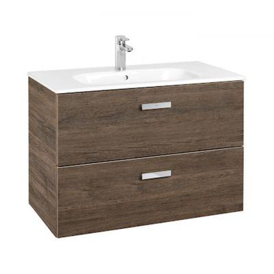 Roca Victoria Basic Unik zestaw łazienkowy 80 cm umywalka z szafką cedr A855852423