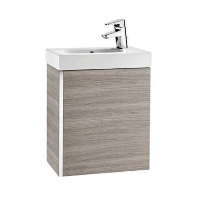 Roca Unik Mini zestaw łazienkowy 45 cm umywalka z szafką szary piasek tekstura A855873156