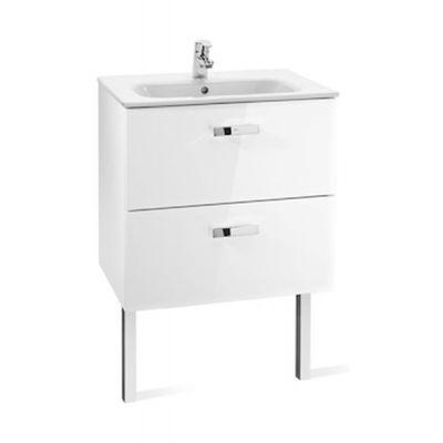 Roca Victoria Basic Unik zestaw łazienkowy 60 cm umywalka z szafką biały połysk A855884806
