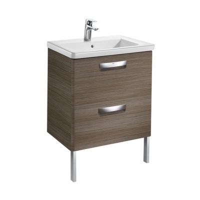 Roca Gap-N zestaw łazienkowy 60 cm umywalka z szafką teak A855997150