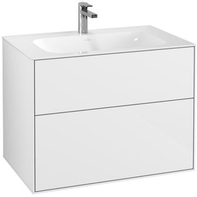 Villeroy & Boch Finion szafka 79,6 cm podumywalkowa wisząca Glossy White Lacquer F01000GF
