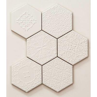 Tubądzin Elementary mozaika ścienna Hex 22,1x28,9cm