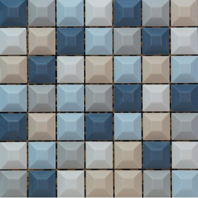 Tubądzin Elementary mozaika ścienna Blue 31,4x31,4cm
