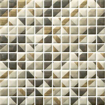 Paradyż Enya mozaika ścienna Grafit prasowana K.2,3X2,3 Mix 29,8x29,8cm