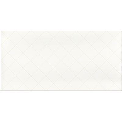 Paradyż Tonnes płytka ścienna Bianco Kratka 30x60cm