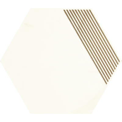 Paradyż Calacatta hexagon B Mat 17,1x19,8cm