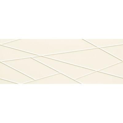 Tubądzin House of Tones płytka ścienna white A STR 32,8x89,8cm