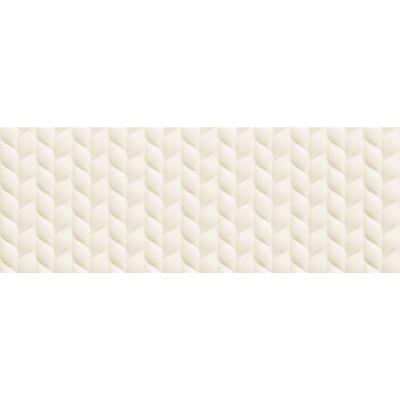 Tubądzin House of Tones płytka ścienna white B STR 32,8x89,8cm