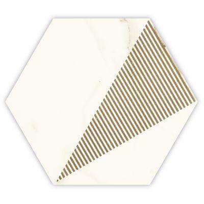 Paradyż Calacatta dekor ścienno-podłogowy 17,1x19,8 cm motyw C beż