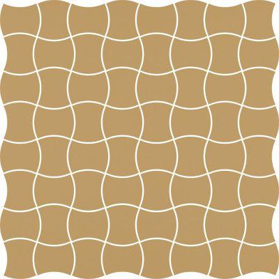 Paradyż Modernizm mozaika ścienno-podłogowa 30,9x30,9 cm prasowana ochra brąz