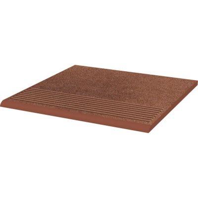 Paradyż Taurus stopnica 30x30 cm prosta brązowy mat