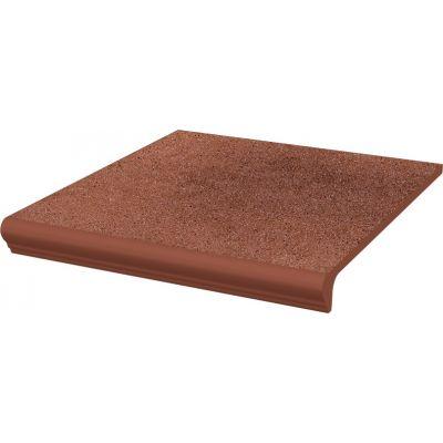 Paradyż Taurus stopnica 30x33 cm prosta kapinos STR brązowy mat