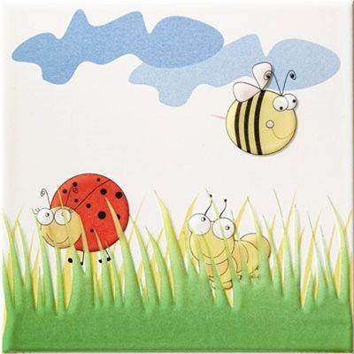 Tubądzin Pastel dekor ścienny 20x20 cm robaczki 1