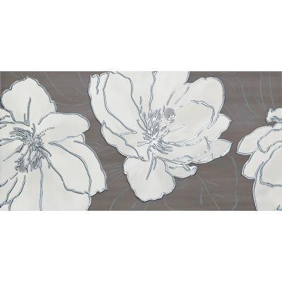Tubądzin Ashen 1 dekor ścienny 29,8x59,8 cm szary połysk
