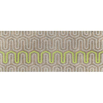 Tubądzin Lemon Stone A dekor ścienny 29,8x74,8 cm szary mat/zielony