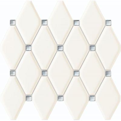 Tubądzin Abisso mozaika ścienna 29,8x27 cm biała
