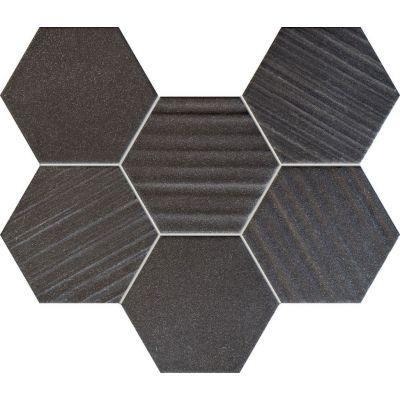 Tubądzin Horizon mozaika ścienna 28,9x22,1 cm STR czarny mat/połysk