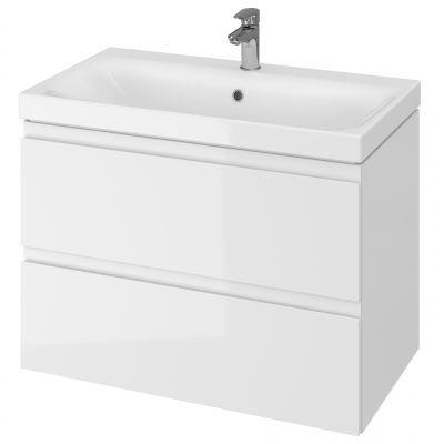 Cersanit Moduo umywalka z szafką 80 cm zestaw meblowy biały S801-221-DSM