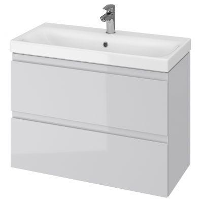 Cersanit Moduo Slim umywalka 80 cm z szafką wiszącą szarą S801-224