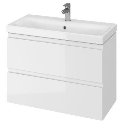 Cersanit Moduo umywalka z szafką 80 cm zestaw meblowy Slim biały S801-225-DSM