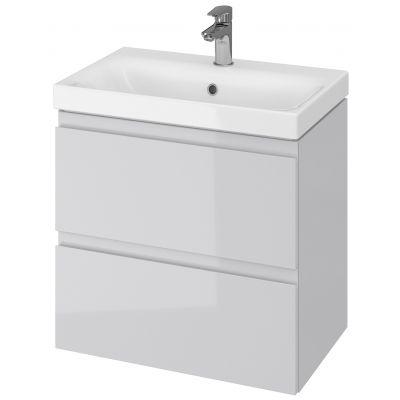Cersanit Moduo umywalka z szafką 60 cm zestaw meblowy Slim biały/szary S801-226-DSM