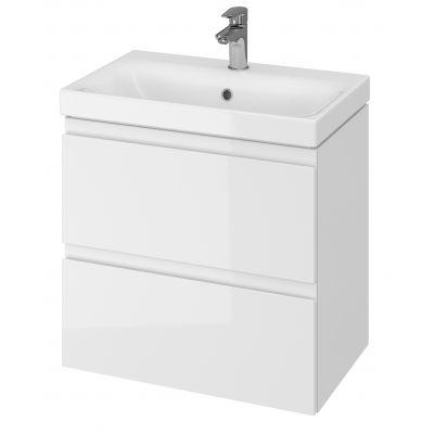 Cersanit Moduo umywalka z szafką 60 cm zestaw meblowy Slim biały S801-227-DSM