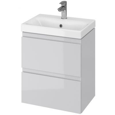 Cersanit Moduo Slim umywalka 50 cm z szafką wiszącą szarą S801-228-DSM