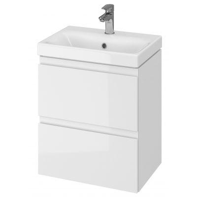 Cersanit Moduo umywalka z szafką 50 cm zestaw meblowy Slim biały S801-229-DSM