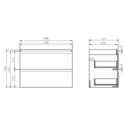 Cersanit Moduo szafka 80 cm podumywalkowa biała S929-008