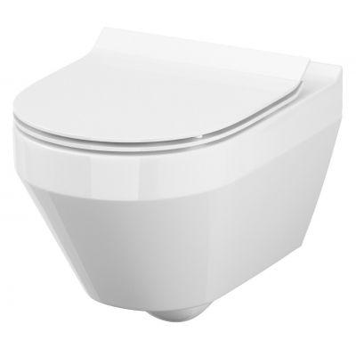Zestaw Cersanit Crea miska WC CleanOn wisząca z deską Slim wolnoopadającą S701-212