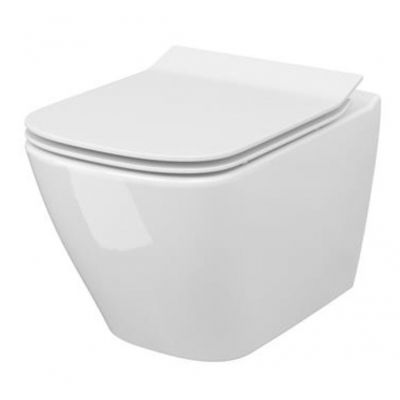 Cersanit City Square miska WC wisząca CleanOn z deską wolnoopadającą biały S701-405