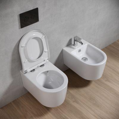 Zestaw Cersanit Inverto miska WC wisząca StreamOn z deską wolnoopadającą biała S701-419