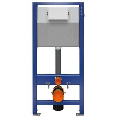 Zestaw Cersanit Inverto miska WC wisząca StreamOn z deską wolnoopadającą oraz stelażem podtynkowym Aqua i przyciskiem Accento Circle S701-423