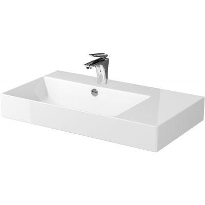 Cersanit Inverto umywalka 80x45 cm prawa nablatowa biała K671-006