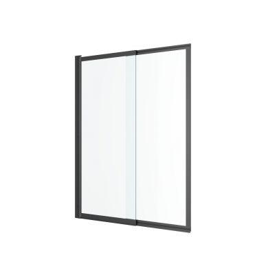Excellent Liner parawan nawannowy 110 cm rozsuwany czarny mat/szkło przezroczyste KAEX.2930.1100.LP
