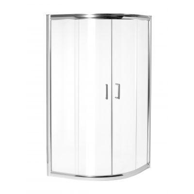 Invena Kordoba kabina prysznicowa 80x80 półokrągła szkło transparentne AK-50-185