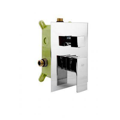 KFA Armatura Hexa bateria wannowo-prysznicowa podtynkowa Quadro 40 chrom 402941100