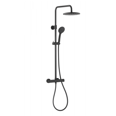 KFA Armatura Moza zestaw prysznicowy ścienny czarny mat 5736-910-81