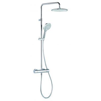 Kludi Freshline Dual Shower System zestaw prysznicowy ścienny termostatyczny chrom 6709205-00