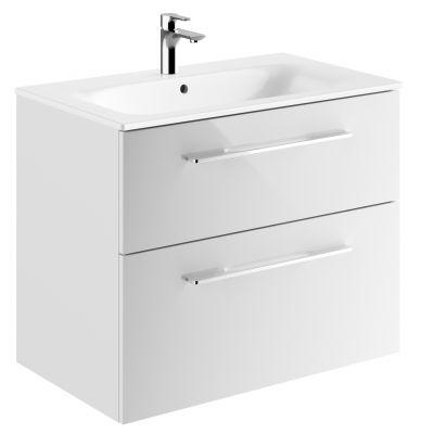 Koło Nova Pro Premium umywalka z szafką 80 cm biały połysk 501.323.00.1