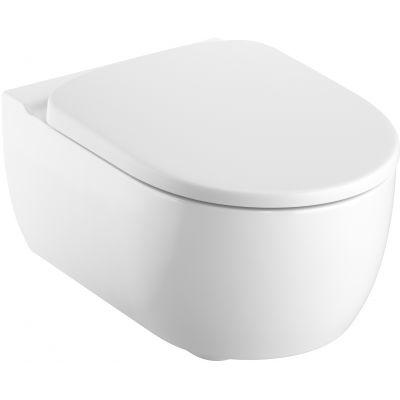 Koło Modo Pure Oval miska WC wisząca z deską sedesową wolnoopadającą biała L39123000